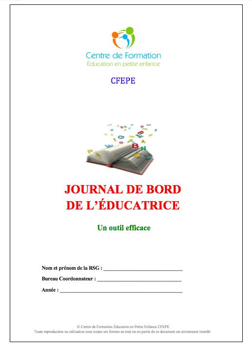 Journal de bord de l'éducatrice - Un outil efficace ...